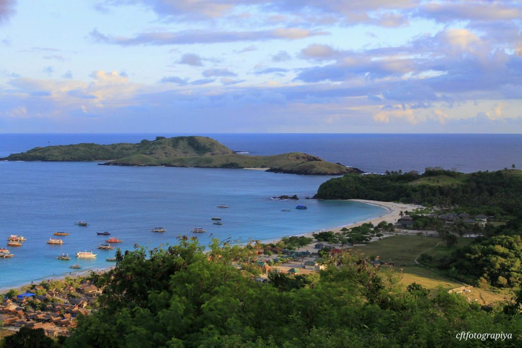 Entire view of Calaguas island on a bright sunny day