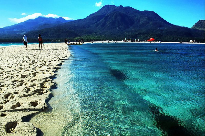 The sandbar at White Island, Camiguin