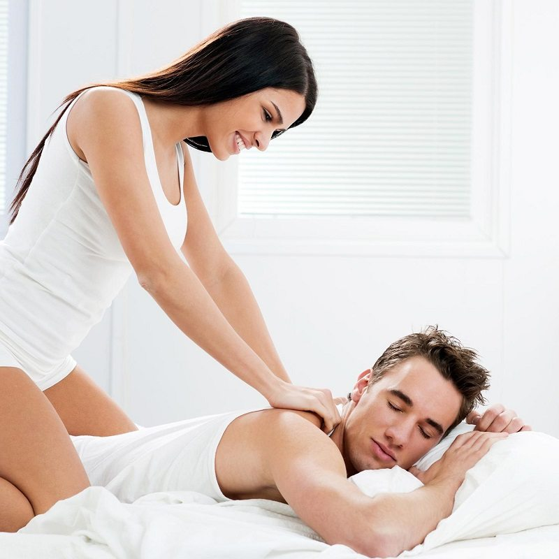 Couple Massage Relax Home