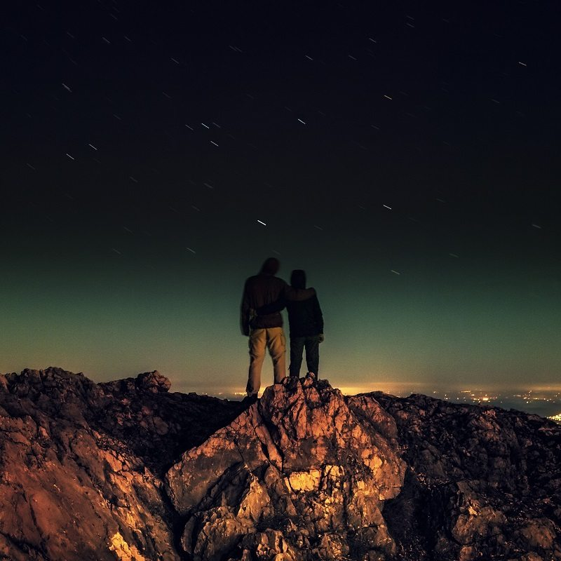 Stars Couple Date Night Romantic Country Mountain