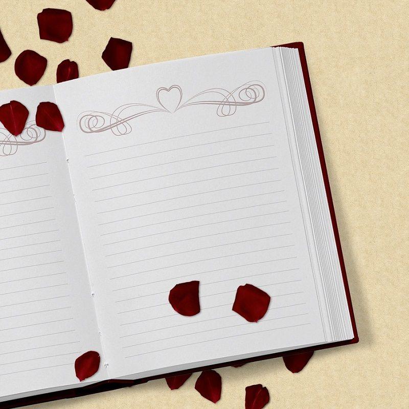 Notebook Scrapbook Love Heart Romance