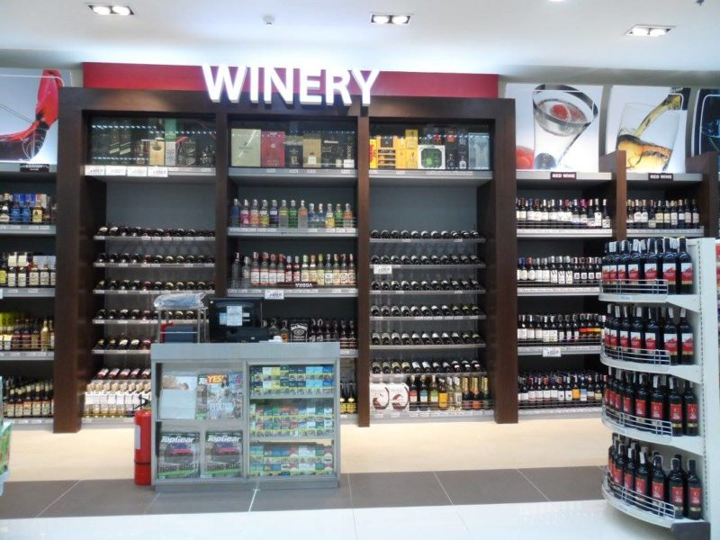 Shop at the wine alley at the Robinsons Supermarket