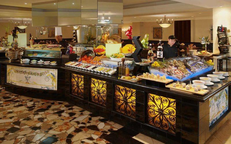 Buffet spread at the Riviera Cafe, Manila