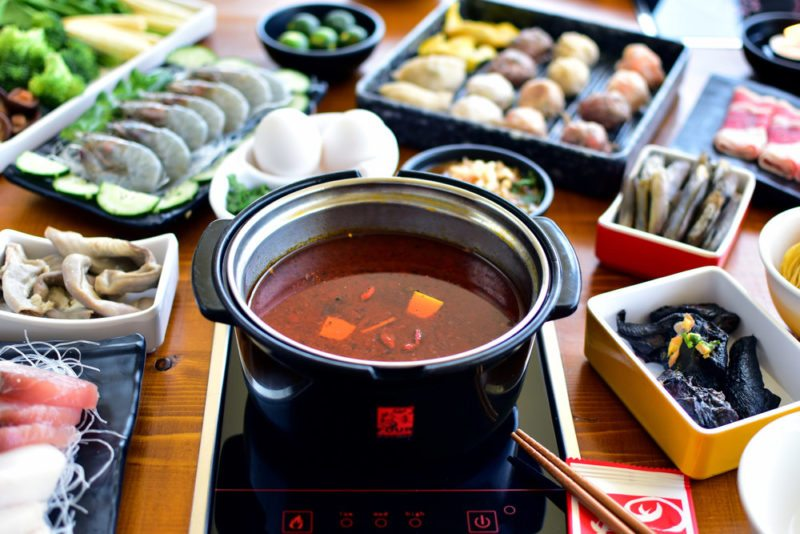 Hotpot and ingredients from Four seasons , Manila
