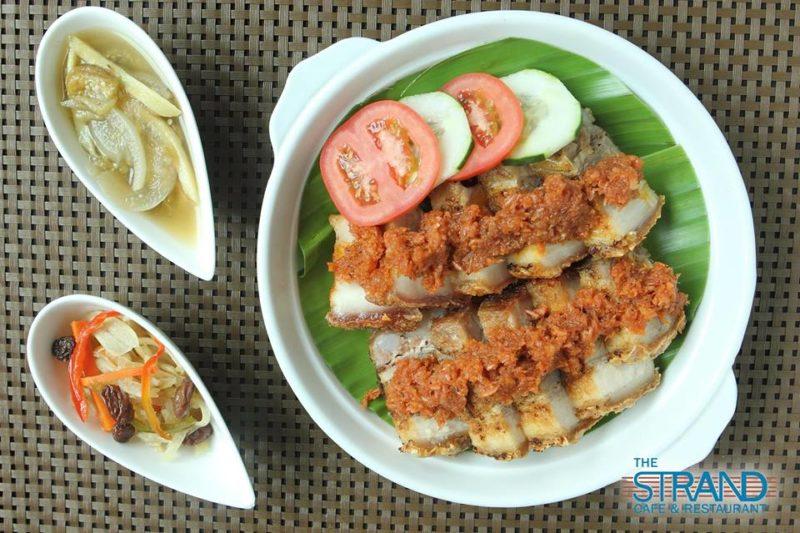 Roasted pork , lechon kawali from The Strand Cafe, Manila
