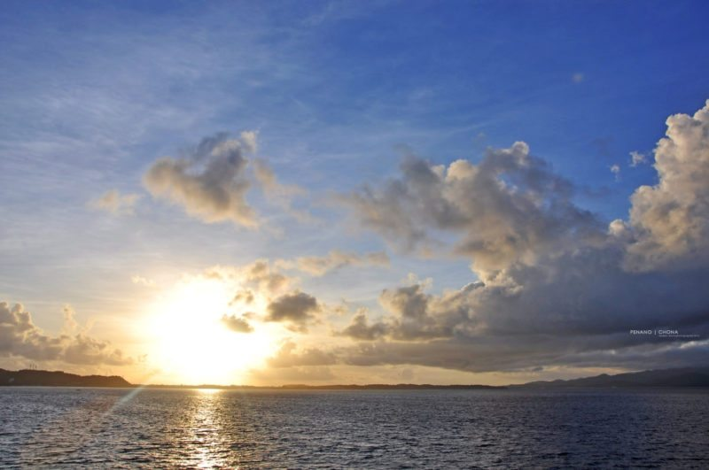sunrise on carabao island in the philippines