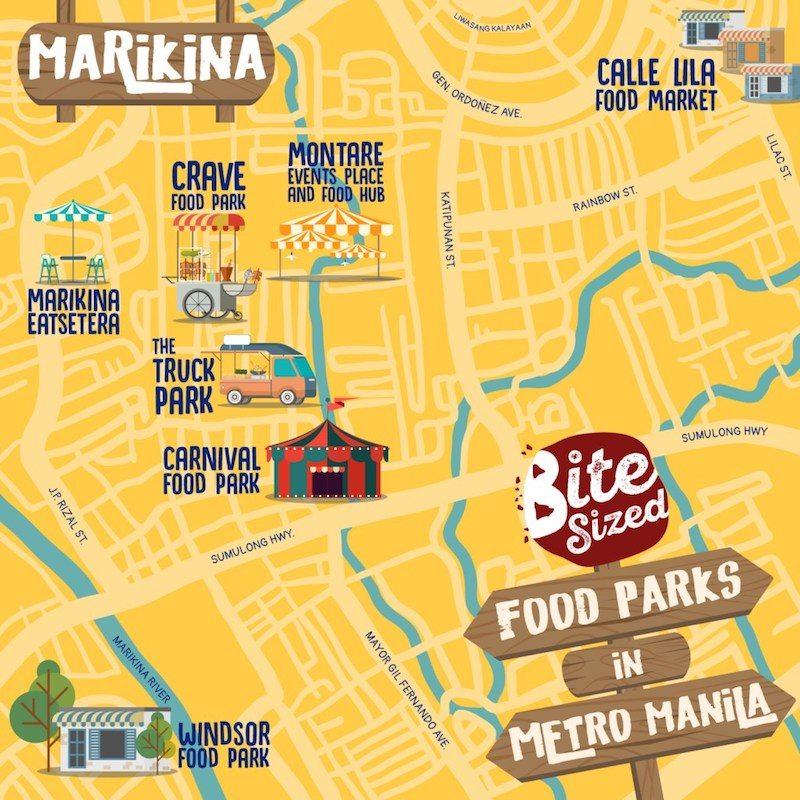 marikina food parks map