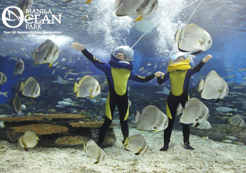 manila ocean park aquanaut underwater