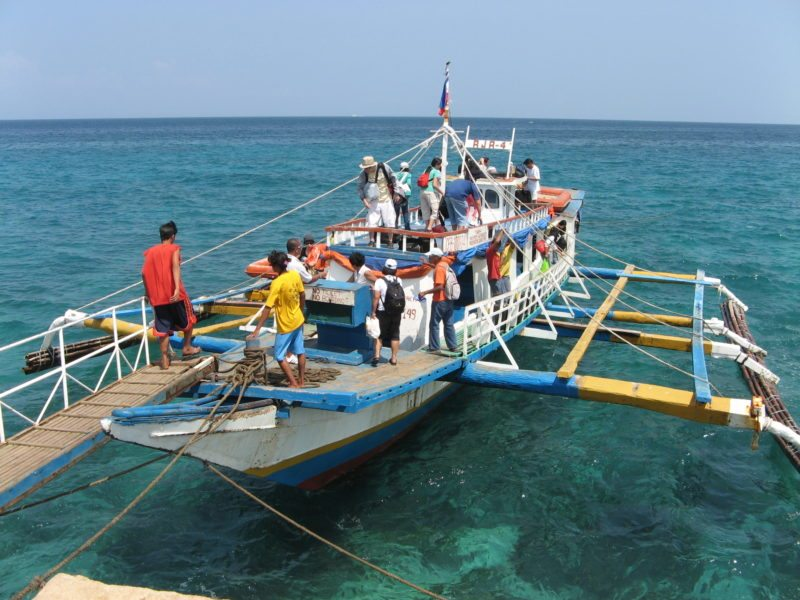 Camotes Islands transfer boat at the port