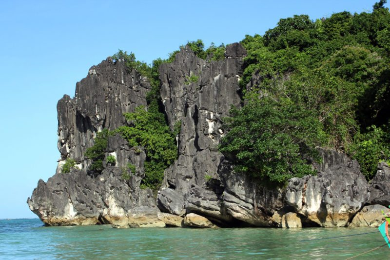 Beautiful rock formation in Caramoan Island.