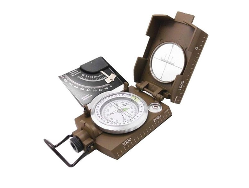 Professional Military Army Metal Sighting Compass with Inclinometer
