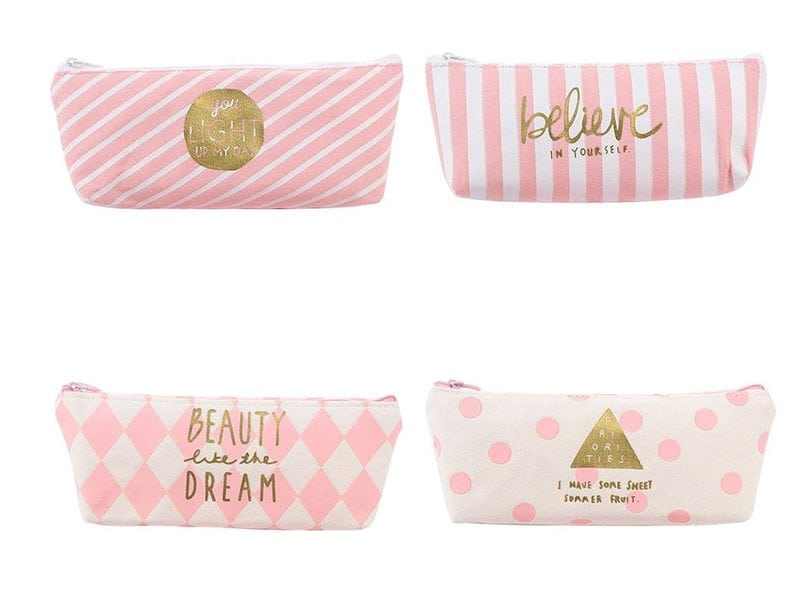 Student's Stationery Canvas Zipper Pouch