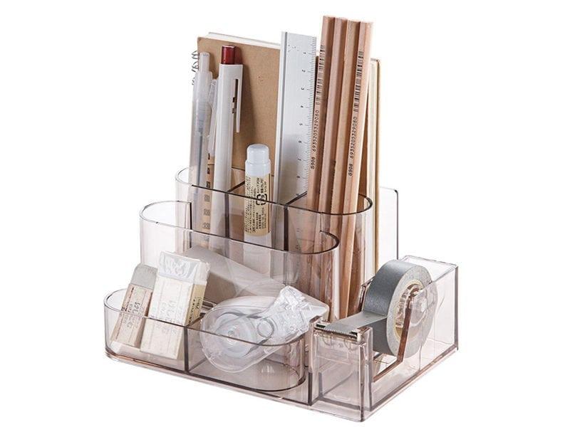 Transparent Stationery Desk-Rack