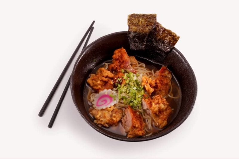 Slurp and feel the heat of Ramen Bar's Spicy Karaage Ramen.