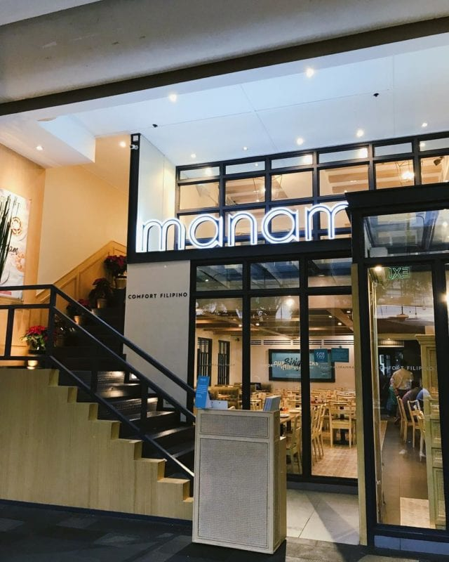 Manam Comfort Filipino restaurant
