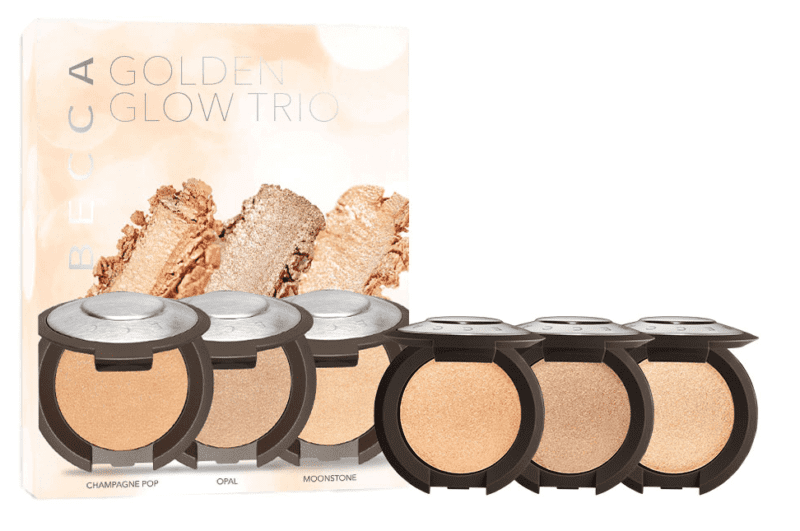 BECCA Golden Glow Trio - Shimmering Skin Perfector™ Pressed Highlighter Mini Set (Limited Edition)