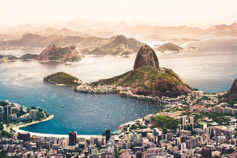 top view of Rio De Janeiro Brazil