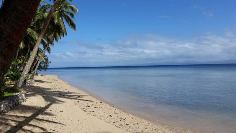 clear beach in fiji