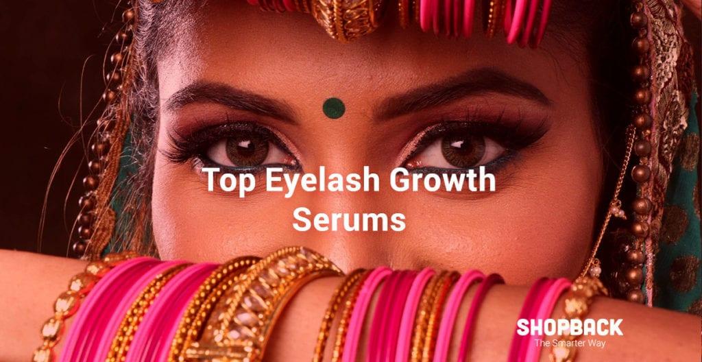 Gril with long lashes due to eyelash growth serum shopback blog