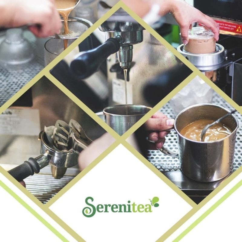 Serenitea brew and preparation in assorted pictures