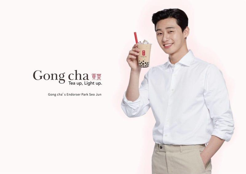Endorser Park Seo Jun holding bubble tea