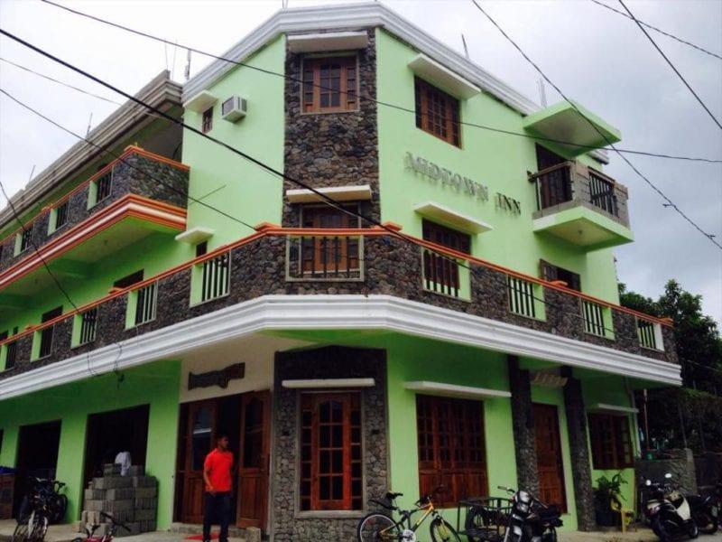 Green facade of Midtown Inn, Batanes
