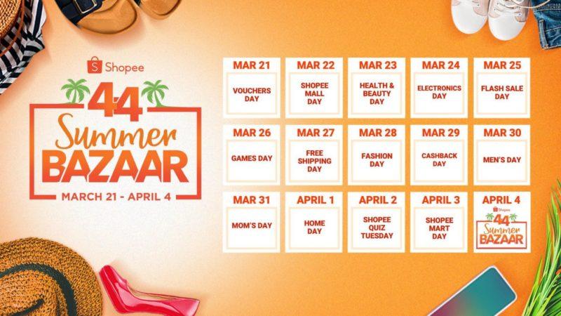 4.4 shopee calendar 2019