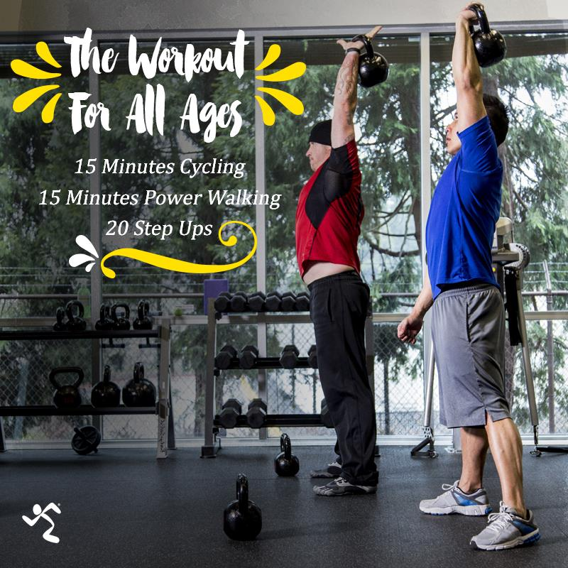 two men doing raised stretches with weights