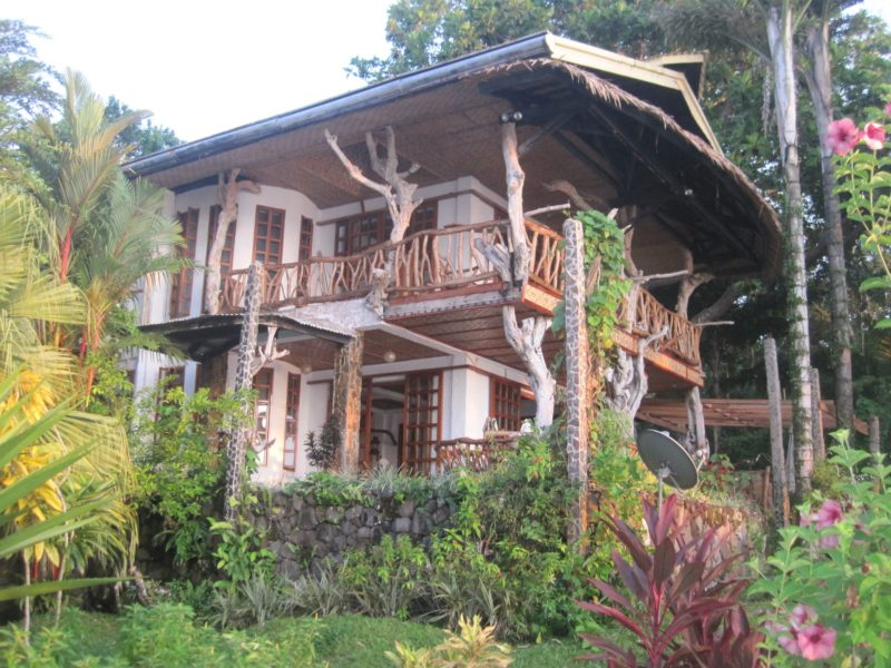 Rustic exterior of Casa Roca Inn