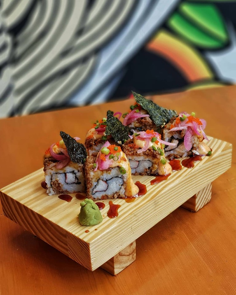 spicy beef maki