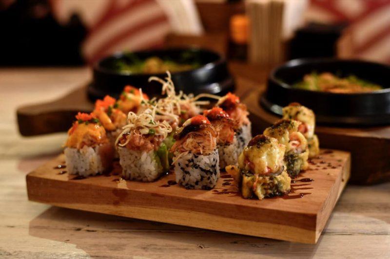 various maki rolls