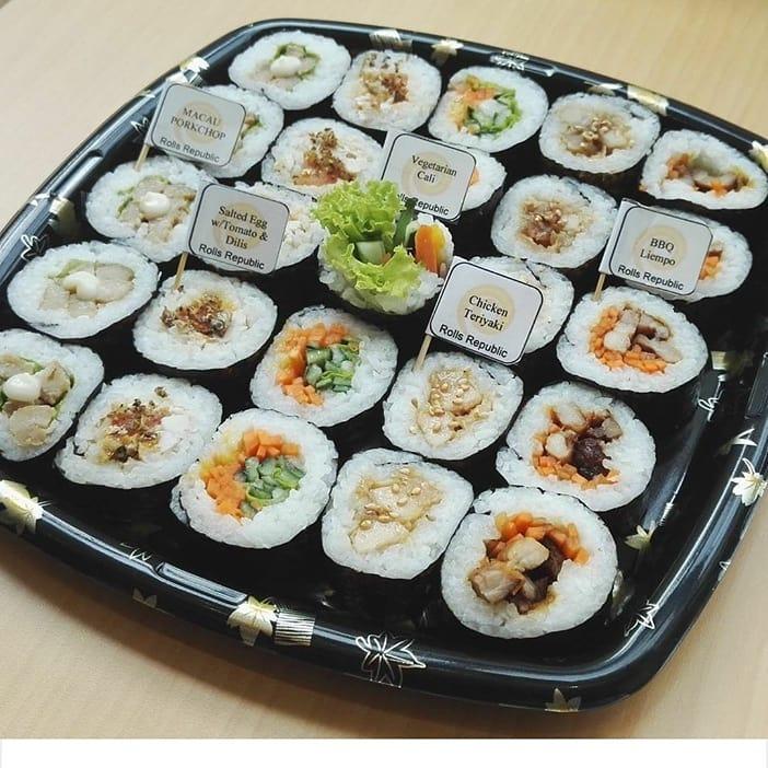 maki rolls platter