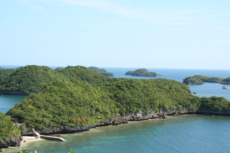 Aerial view of Hundred Islands National Park