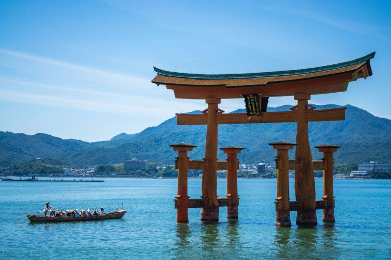 Torii Gate in Miyajima japan