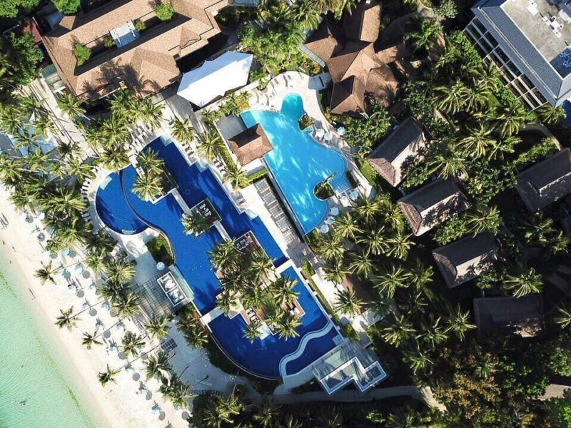 Aerial view of Henann Resort
