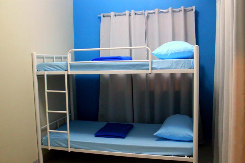 Beds in dorm