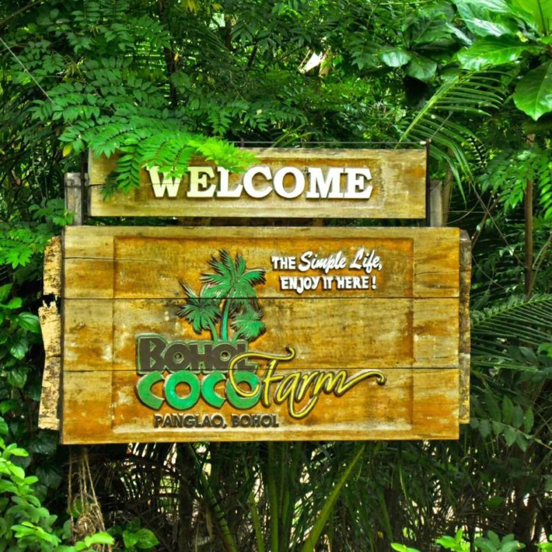 Front entrance signage to Bohol Coco Farm Backpackers