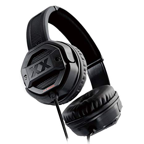black bulky headphones