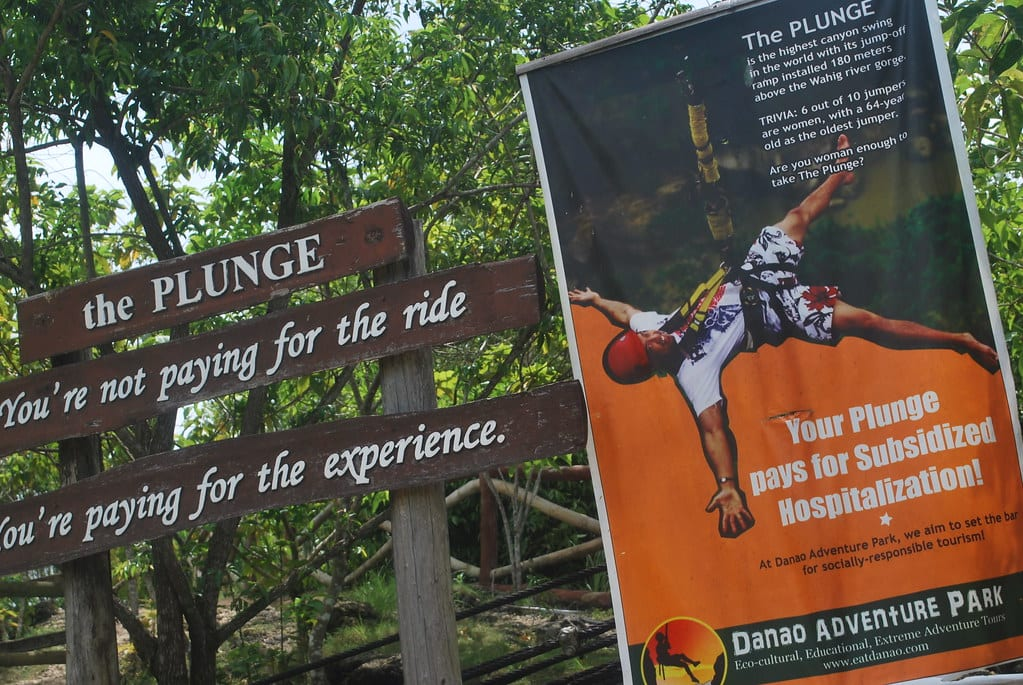 The Plunge at Danao Adventure Park, Bohol
