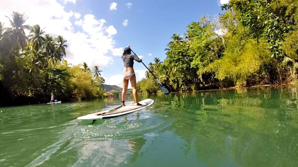 paddle boarding bohol