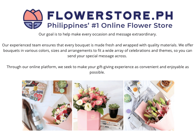 background story of the number one online flower store in Philippines flowerstore.ph