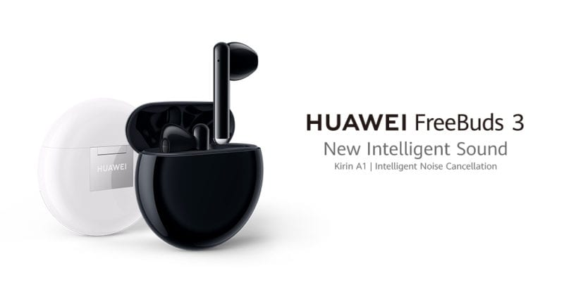 new black and white coloured huawei true wireless bluetooth earbuds
