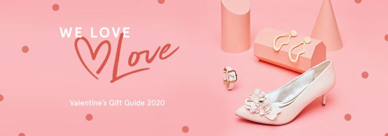 hero landing page banner on Zalora for Valentine's day sales and gift guide 2020