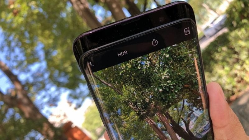using the new oppo smartphone to take photos