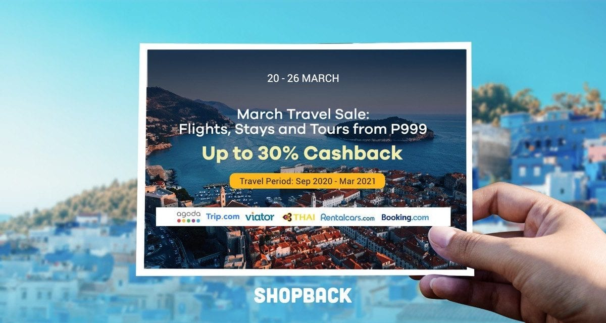 Travel from September 2020 to March 2021 and Enjoy Up To 30% Cashback!