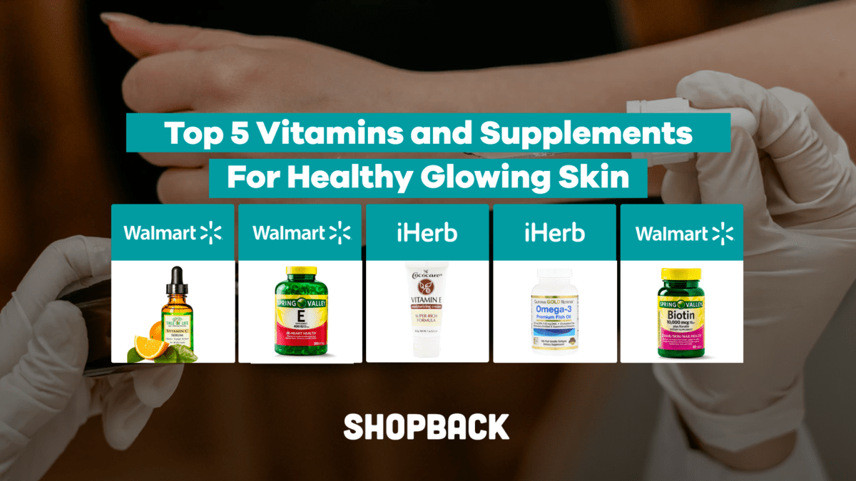 Top 5 Vitamins and Supplements For Healthy Glowing Skin
