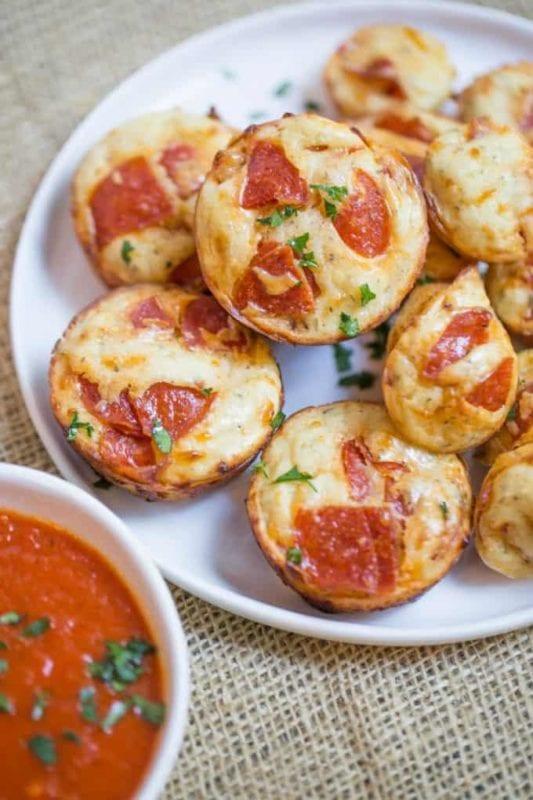 muffin pepperoni pizza