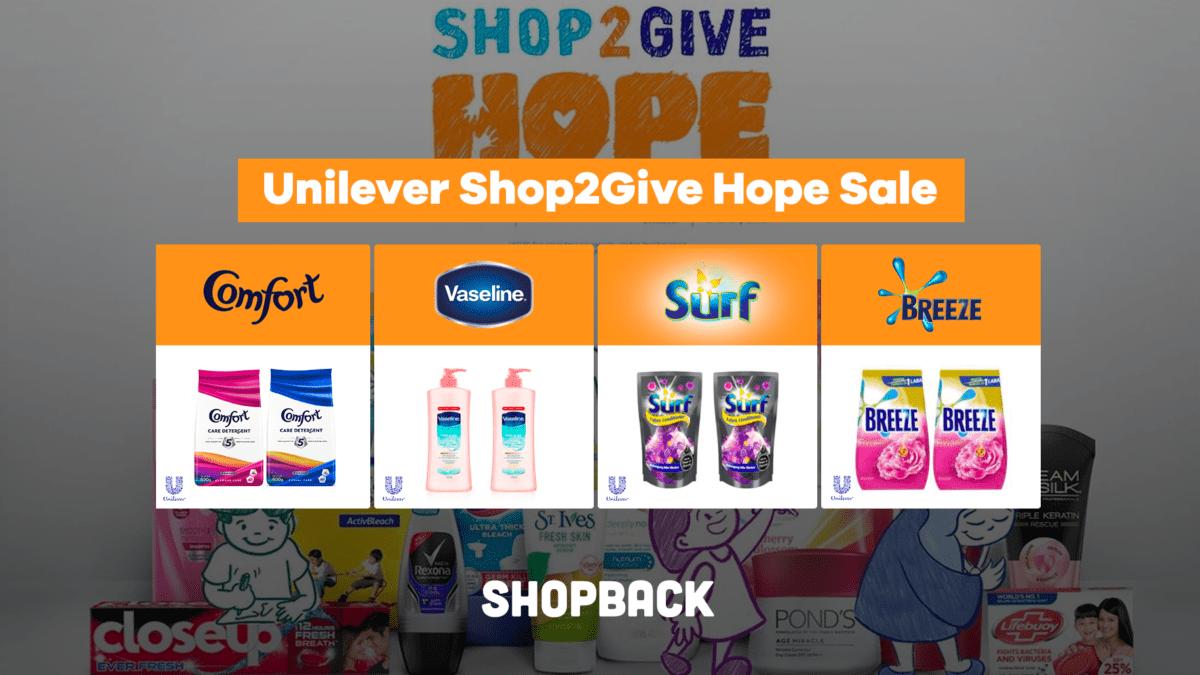 #Shop2Give Hope Sale: Enjoy Up To 70% Off The Best Unilever Deals!