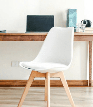 white IKEA chair