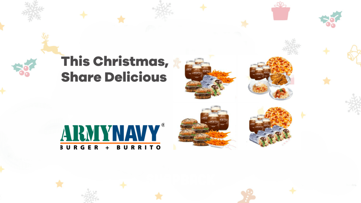 Enjoy a feast of your favourites with Army Navy's holiday group meals!